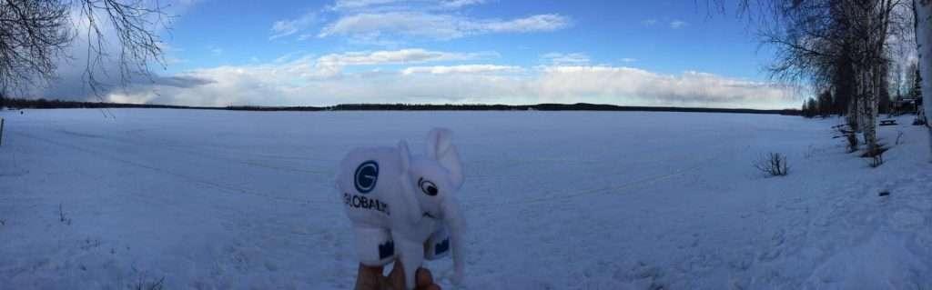 Echo en Laponie avant son décollage