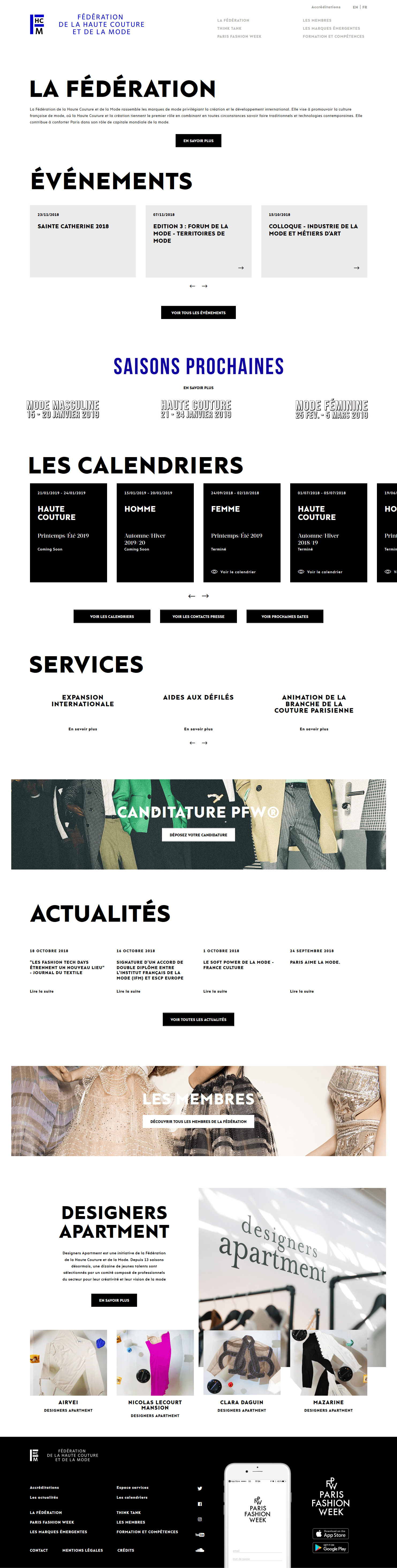 Page d'accueil FHCM